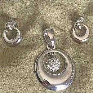 Lia Sophia Pendant & Earrings Set